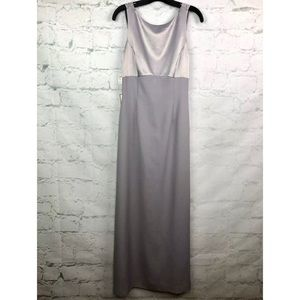 Adrianna Papell evening gown 6 NWT silver